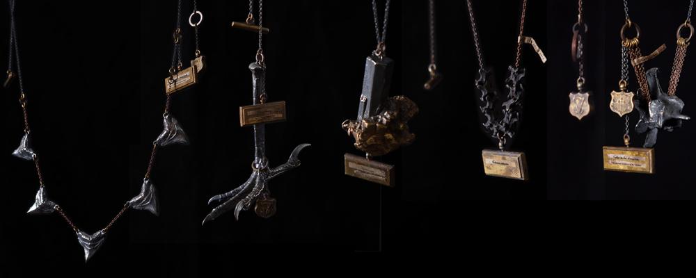 シルバーアクセサリー,アンティーク,標本,模型,ネックレス,シルバー.真鍮